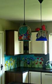 Stained Glass Backsplash by Before And After J Paige U0027s Amazing Kitchen Transformation