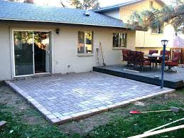 Easy Paver Patio Diy Paver Patio Ing S Building Installing Cost Installation