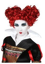 red queen halloween alice in wonderland red queen of hearts costume wig discount wig