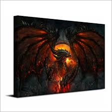 dragon home decor aliexpress com buy 1 piece canvas painting dragon fire wings