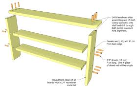 Wooden Bookcase Plans Free by Low Bookshelf Plans