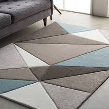 Area Rug Modern Wrought Studio Mott Modern Geometric Carved Teal Gray Area