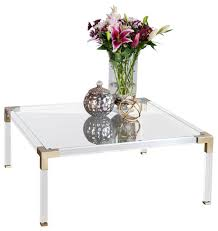 Square Acrylic Coffee Table Lucia Lucite Coffee Table Contemporary Coffee And Accent