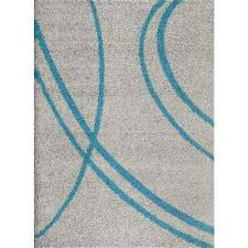 Teal Shag Area Rug World Rug Gallery Area Rugs Rugs The Home Depot