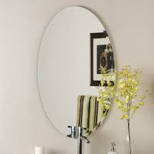 bathroom sherise brushed nickel oval lowes bathroom mirror for