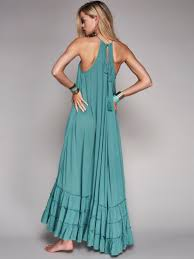 Free People Wrap Around Maxi Dress In Blue Lyst
