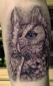 unify tattoo company tattoos realistic owl tattoo