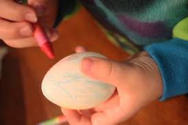 Decorating Easter Eggs Crayons by Easter Egg Decorating For Toddlers With Crayons And Washable Paint