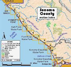 sonoma california map california coastal trail