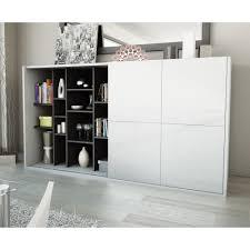 meuble tv caché cherche meuble tv avec porte coulissante pour masquer la tv