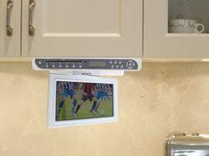 kitchen televisions under cabinet under the cabinet tv for kitchen glamorous 10 tv hbe kitchen