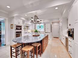 Center Island For Kitchen Kitchen In Luury Home With Large Center Island Stock Photo Design
