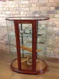 table top display cabinet victorian style mahogany bow table top cabinet in bespoke counter