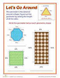 let u0027s go around exploring perimeter worksheet education com