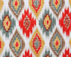 grey yellow ikat upholstery fabric yellow ikat cotton