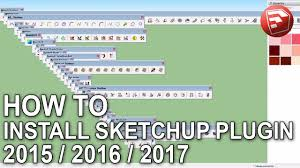 how to install sketchup 2015 2016 2017 plugins su plugin