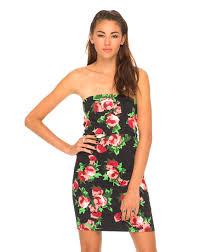 buy motel diana bandeau dress in jaggared rose at motel rocks
