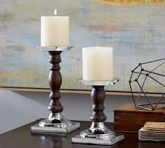 Candle Sconces Pottery Barn Baxter Pillar Holder Pottery Barn
