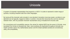 12 sdd option 2 ascii and unicode youtube