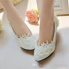 wedding shoes 2017 2017 stylish pearls flat wedding shoes for 3d floral