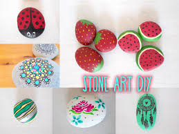 Painted Rocks For Garden by Stone Art Diys Including Game Design Youtube