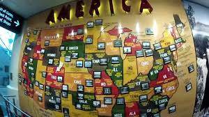 Map Of Airports Usa by America Map Art At Dia Denver International Airport Youtube