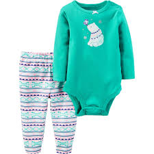 Children S Clothing Clearance Carter U0027s Infant Girls 2 Pc Polar Bear Graphic Bodysuit And Pants