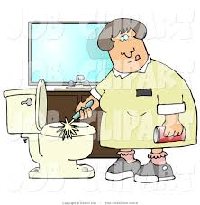 cleaning toilets clipart 13