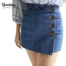 high quality new summer jean skirt 2017 women denim skirt single