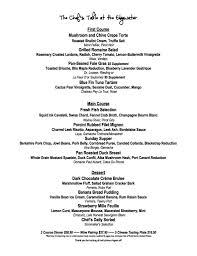 chef u0027s table menu chef u0027s table at the edgewater