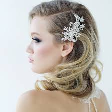bridal hair accessories uk side swept hair with hair comb wedding side sweep