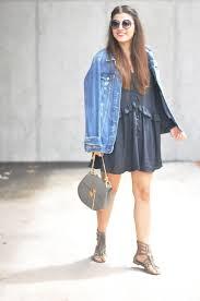 fringed sandals u0026 oversized denim jacket fashionnes