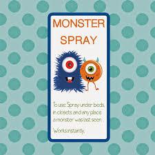 printable monster spray bottle label kicking u0026 crafting