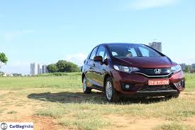 honda jazz car price 2015 honda jazz crimson front angle carblogindia