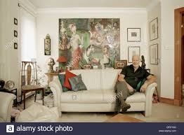 Home Interior Design Glasgow Fine Art Dealer Barclay Lennie In His Home Glasgow Scotland Stock