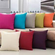 canap voiture solide couleur simple oreiller couvrant linge housse de coussin
