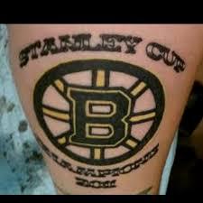 bruins colour tattoos hockey tattoo boston bruins tattoo designs