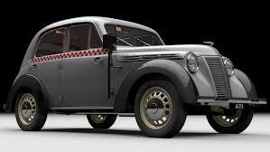 vintage renault 3d juvaquatre berline renault turbosquid 1166061