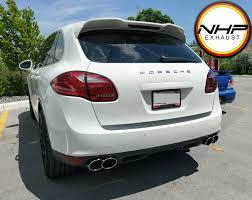 Porsche Cayenne Exhaust - nhp porsche cayenne 958 exhaust tips