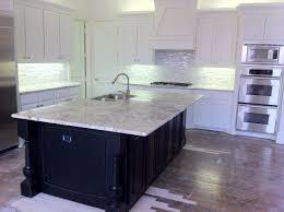 white glass tile backsplash kitchen