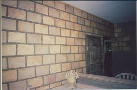 faux brick u0026 tile wall ah interior painting