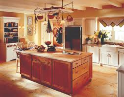 kraftmaid kitchen islands a country kitchen from kraftmaid brookfield cabinet island with
