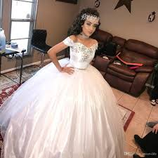 quinceanera dresses white white princess quinceanera dresses two pieces crystals