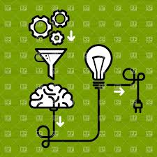 invention mechanism with light bulb brain and electric plug