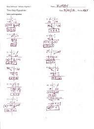 Algebra Worksheets And Answers Kuta Software Infinite Algebra 1 Writing Linear Equations Answer