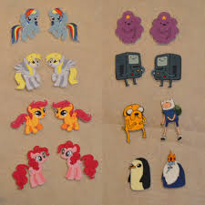 my pony earrings jennuine by rook no 17 diy custom earrings with your favorite