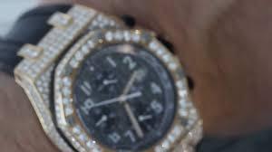 diamond audemars piguet royal oak offshore chronograph rose gold