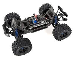 x maxx 8s 4wd brushless rtr monster truck blue by traxxas