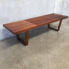 Slat Bench Coffee Table Mid Century Modern Vintage Slat Bench U2013 Urbanamericana