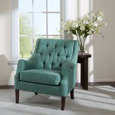 furniture thatcher leather wingback chair with blue chair and